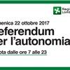 Referendum regionale consultivo 22 ottobre