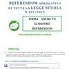 Raccolta firme referendum abrogativo legge scuola n. 107/2015