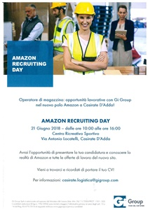 Amazon Recruiting day - Gi Group